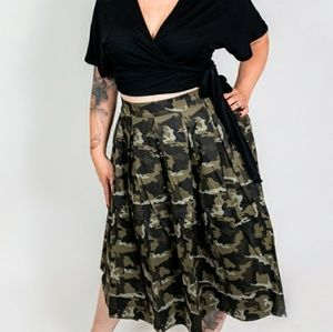 Dresses & Skirts - 🆕Camouflage Printed Maxi Skirt Plus Size